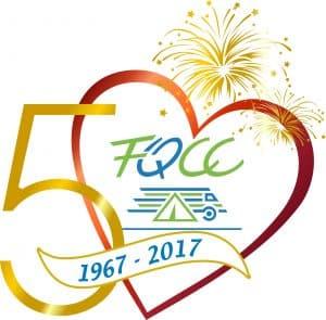 Logo officiel 50e couleur avec artifice