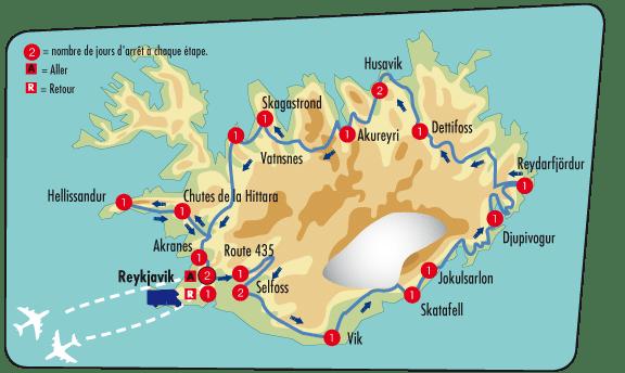 l'Islande-Carte