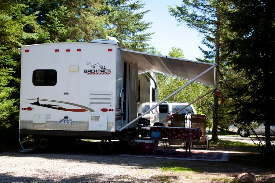 Le camping du Village Vacances Valcartier